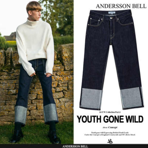★F/W ★ANDERSSON BELL★SELVAGE INDIGO JEANS - INDIGO