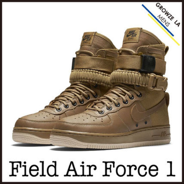 ★【NIKE】日本未入荷!!Special Field Air Force 1 GOLDベージュ