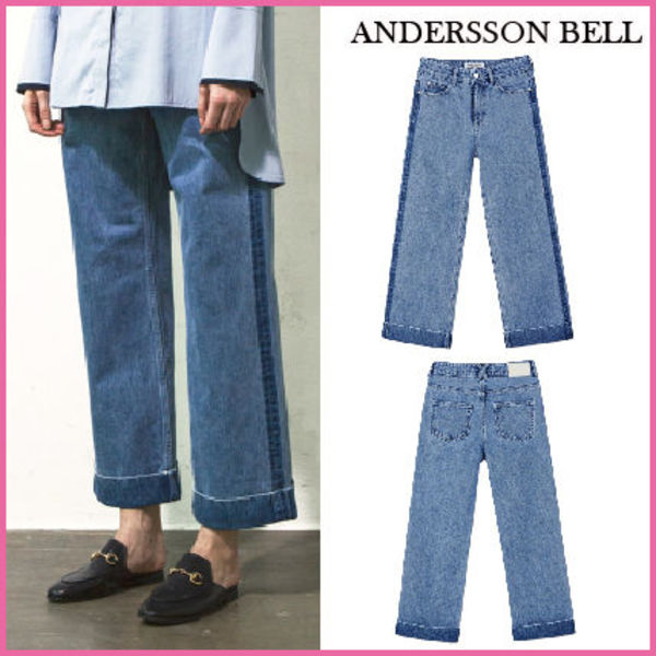 【ANDERSSON BELL】正規品★SIDE LINE TURN-UP JEANS/追跡付