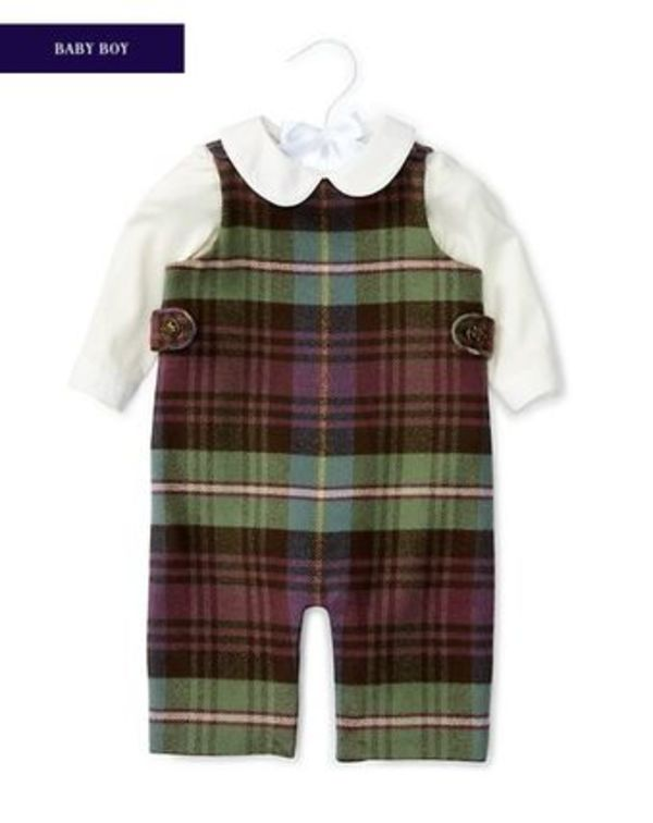 新作♪国内発送  BODYSUIT & PLAID OVERALL SET boys 0~24M