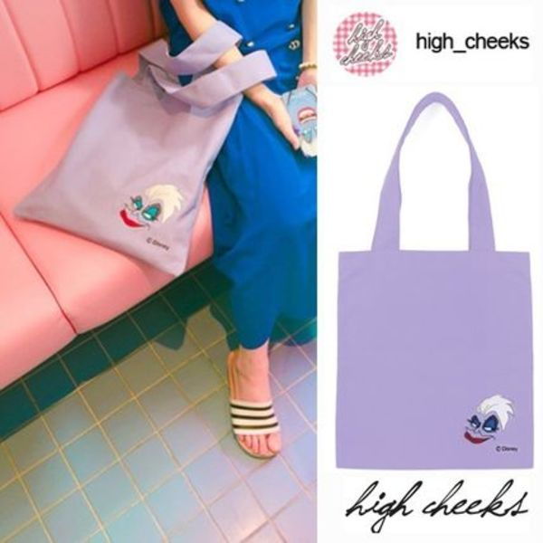 ☆DISNEY x HIGH CHEEKS☆ Ursula Canvas Bag   /日本未入荷