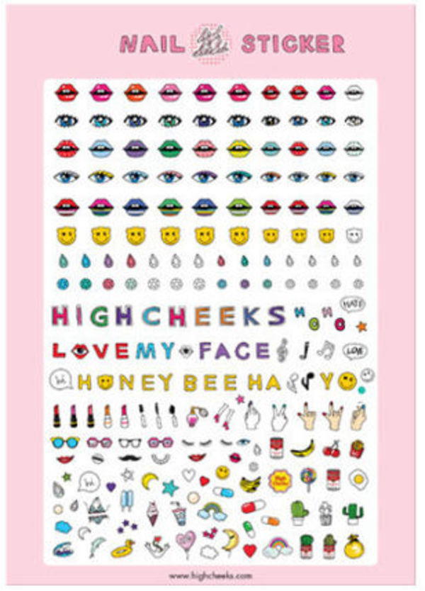 ☆HIGH CHEEKS☆Illust Nail Sticker