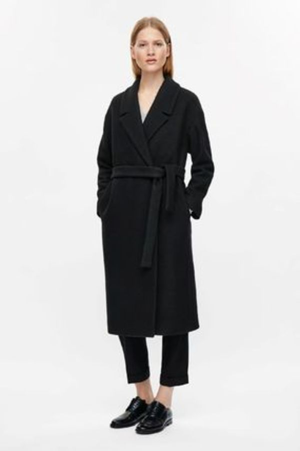COS☆BELTED WOOL COAT