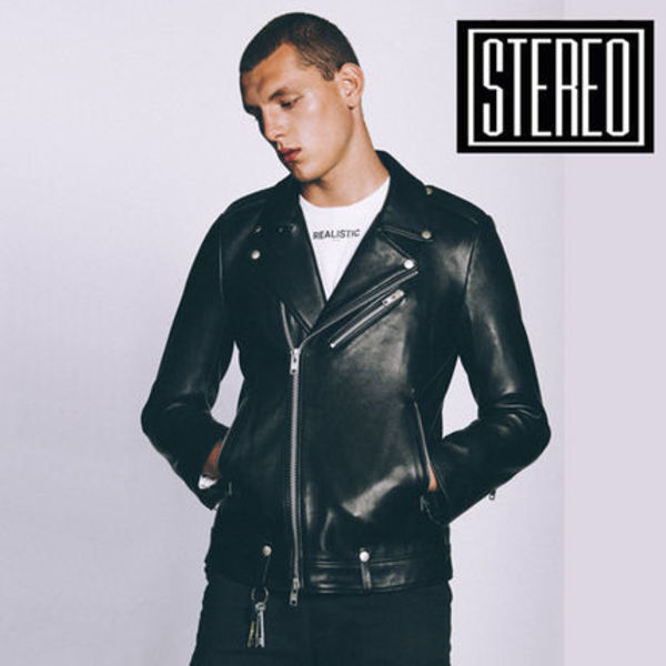 AW16 Music◆STEREO VINYLS◆Lambskin Rider Jacket(Black)