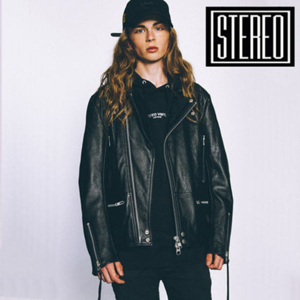 AW16 Music◆STEREO VINYLS◆Cowhide Rider Jacket(Black)