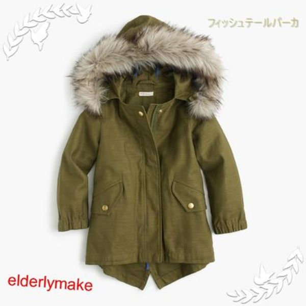 GIRLS' COTTON FISHTAIL PARKA