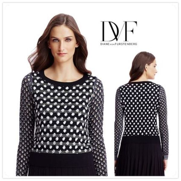 16SS★DVF★ASTIN EMBELLISHED PERFORATED ニット