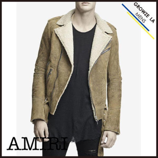 ★【AMIRI】入手困難!! アミリ Shearling Rider Jacket Brown