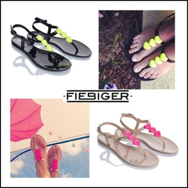 AUS発★Fiebiger Shoes★ピンクorイエロ:Love Jelly Shoes