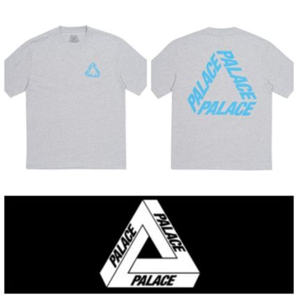 2点のみ!新作PALACE SKATEBOARDS☆P 3 T-SHIRT GREY MARL