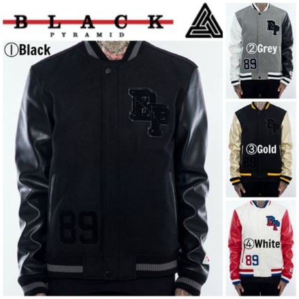 【Chris Brown愛用】☆16AW新作☆BP LOGO VARSITY JACKET