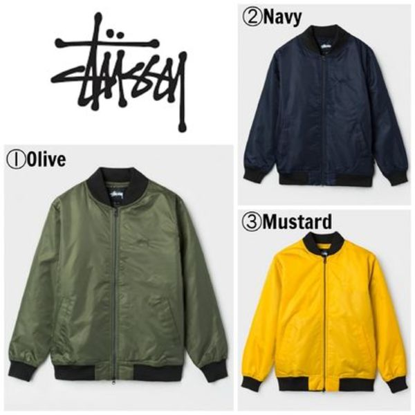【STUSSY】☆16AW新作☆海外限定☆FLIGHT SATIN BOMBER JACKET