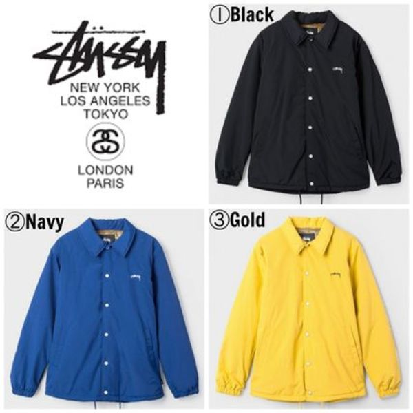 【STUSSY】☆16AW新作☆海外限定☆SMOOTH STOCK COACH JACKET