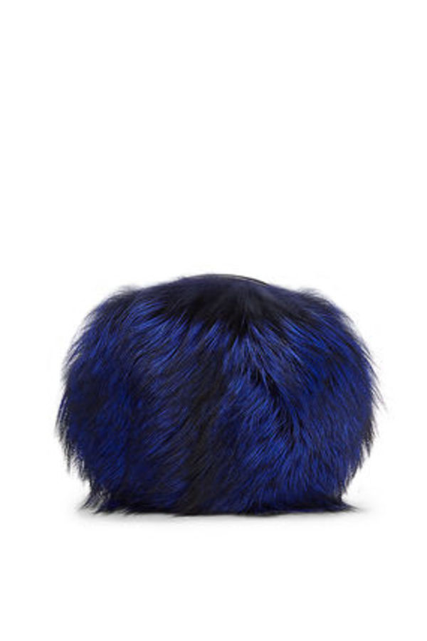 【SALE】 Love Power fox-fur Cobalt