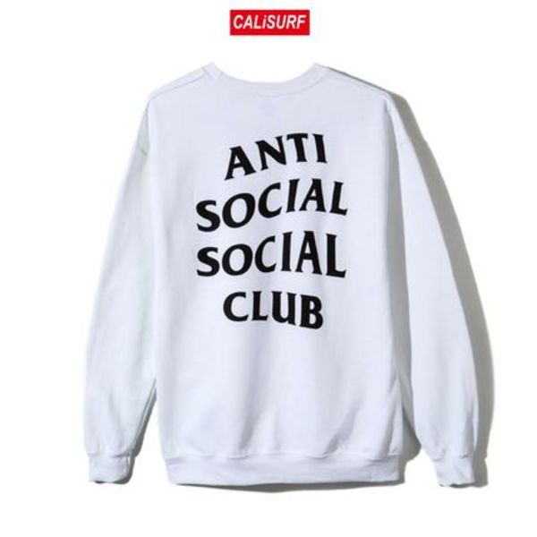 Lサイズ ANTISOCIAL CLUB Masochism Crewneck/WHITE