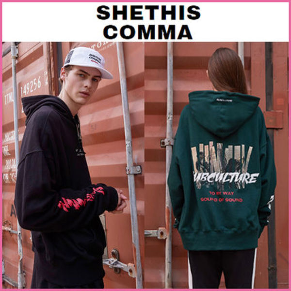 【SHETHISCOMMA】正規品★SUBCULTURE HOOD T起毛あり2色/追跡付