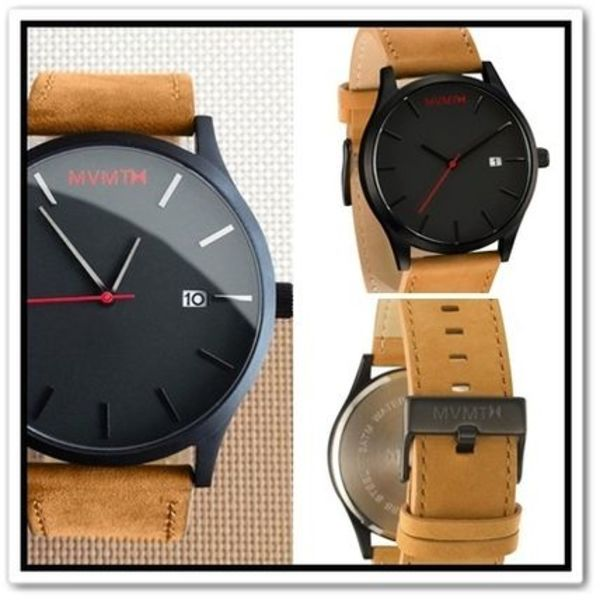 MVMT Watches(エムブイエムティーウォッチ)BLACK/TAN LEATHER