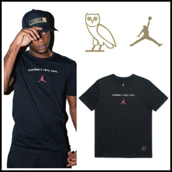 【OVO×JORDAN12】☆16AWコラボ☆OCTOBER'S VERY OWN TEE BLACK