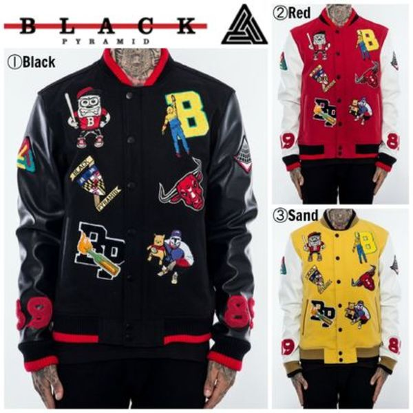 【Chris Brown愛用】☆16AW新作☆MULTI PATCH LETTERMAN JACKET