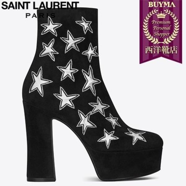 SAINT LAURENT 16AW┃CANDY 80 STAR ANKLE BOOT