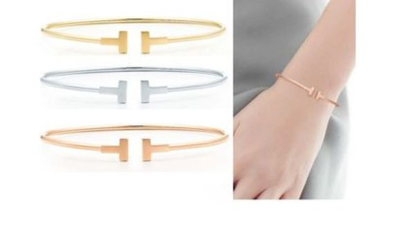 TIFFANY T NARROW WIRE BRACELET