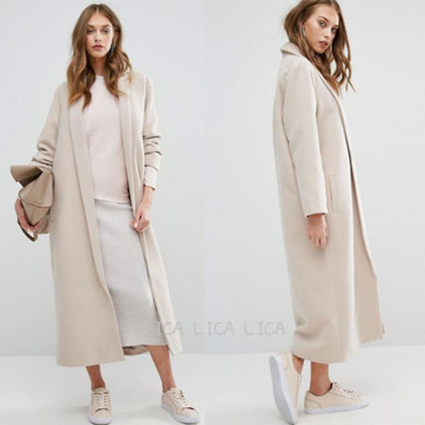 国内発送ASOS/Missguided Shawl Collar Robe Maxi Coat