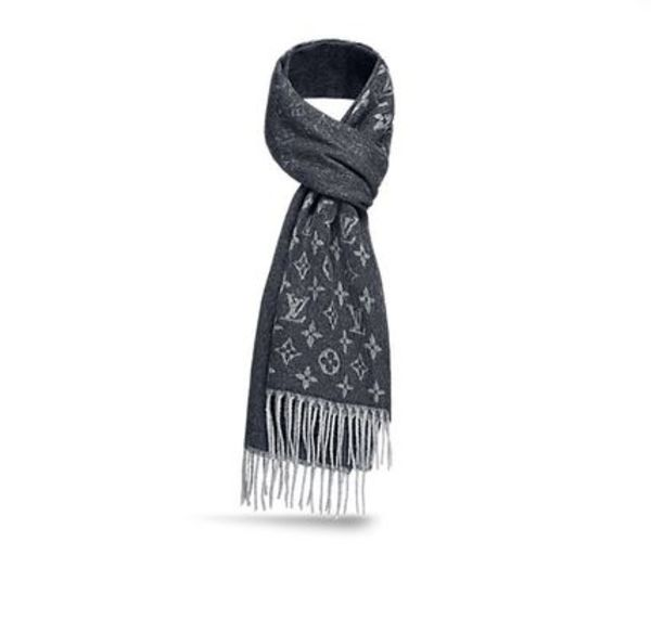 GRADIENT SCARF ルイヴィトン 関税込 マフラー charcoal grey