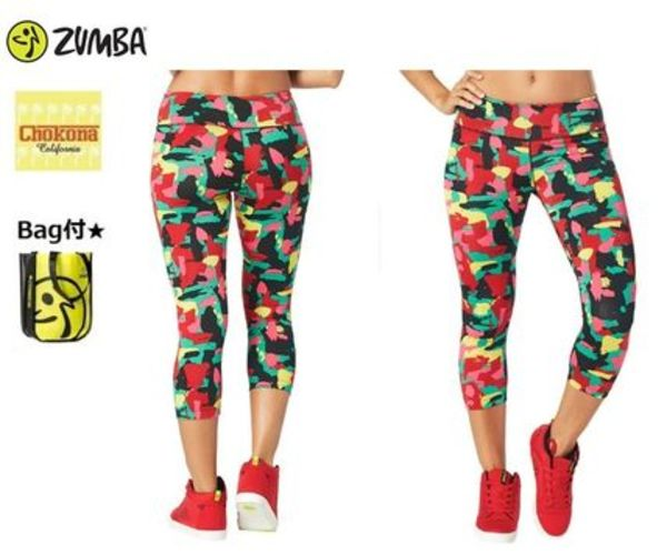 【バッグ付き】★新作★ZUMBA★Let's Jam Perfect Capri Legging