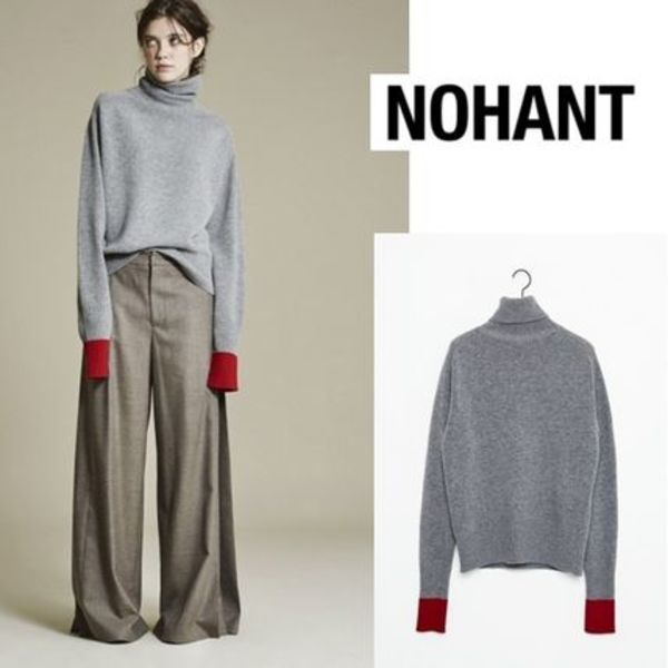 [NOHANT正規品] TURTLENECK KNIT SWEATER GRAY
