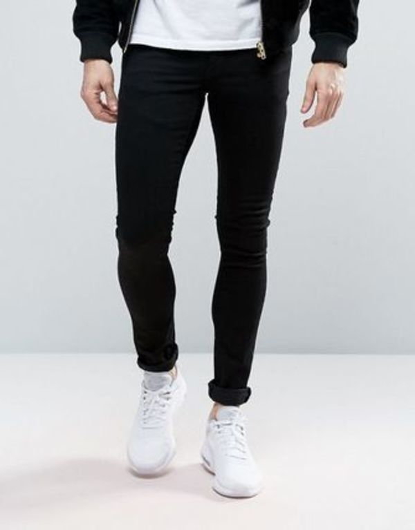 ASOS Extreme Super Skinny Jeans In Black★関税送料込★