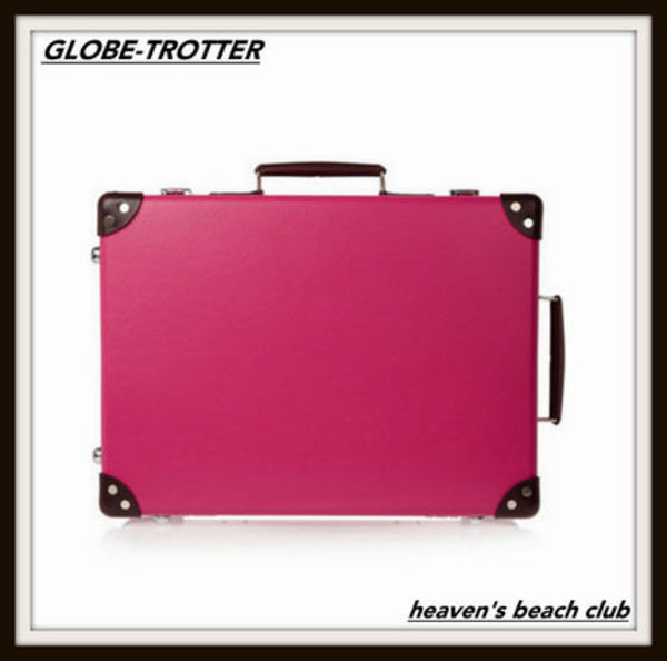 "GLOBE TROTTER【18"" leather-trim fiberboard travel trolley】"
