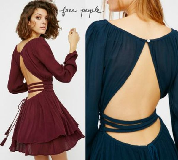 Free People★背中がポイント Much Ado Mini Dress◇関税込み
