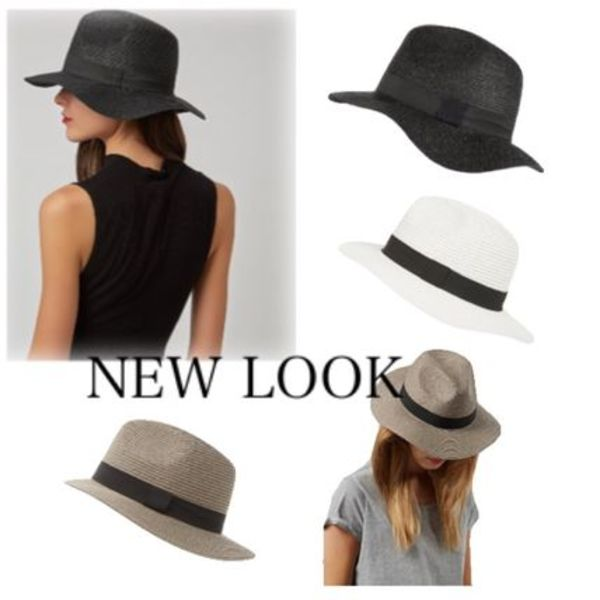 New Look / Straw Oversized Fedora★(ストローハット)