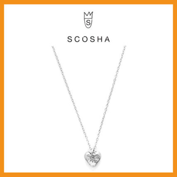 【送関込】☆Scosha☆CLASSIC HEART NECKLACE IN SILVER