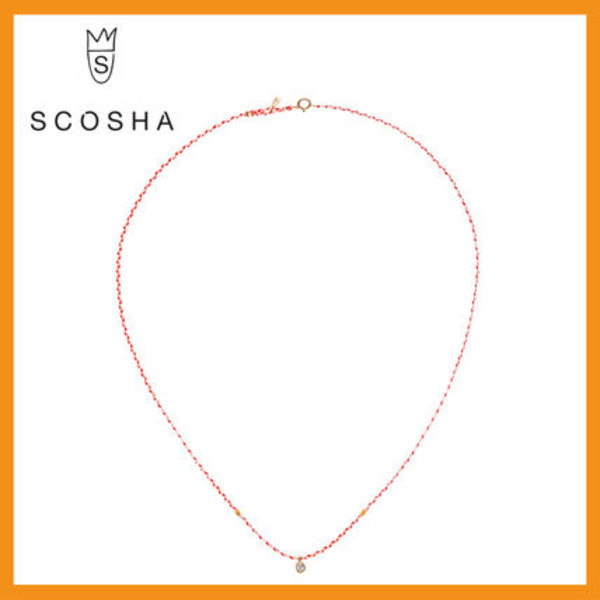 【送関込】☆Scosha☆CARNIVAL NECKLACE WITH DIAMOND