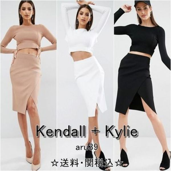 Kendall+Kylie・ラップ型・ペンシルスカート・3カラー