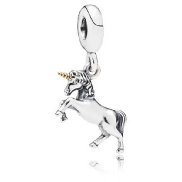 PANDORA Unicorn Fantasy Animal Dangle Charm with 14K