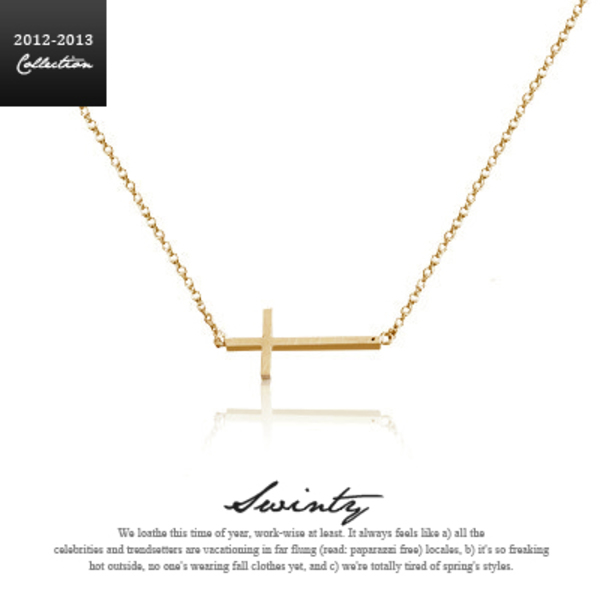 Swinty - Celeb Style★Gold Cross Necklace クロスネックレス