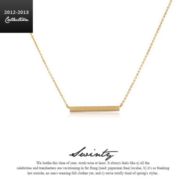 Swinty - Celeb Style★Gold Bar Necklace  バーネックレス