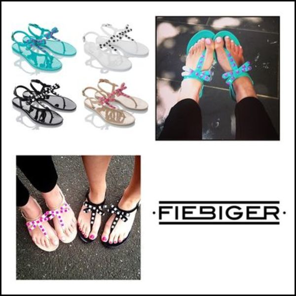 AUS発★Fiebiger Shoes★4色から選べるリボン付Bird Jelly Shoes