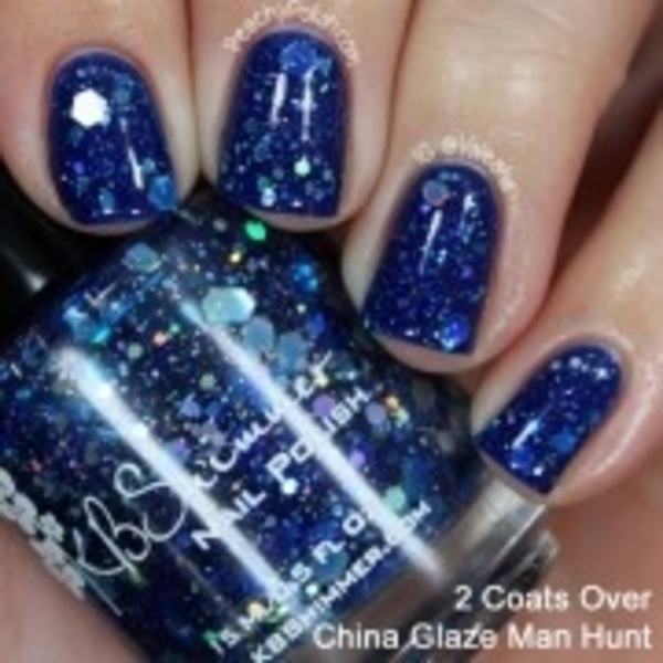 KBShimmer☆可愛いネイル(I Got A Crush On Blue Nail Polish)