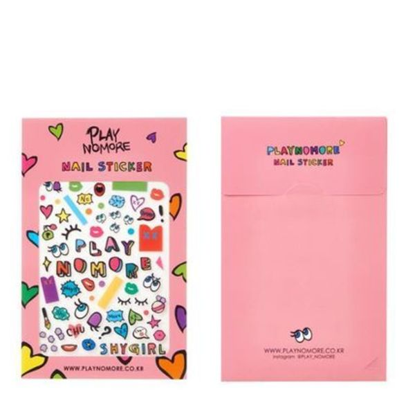 [PLAYNOMORE] SHY GIRL NAIL STICKER 04 Play_Pink