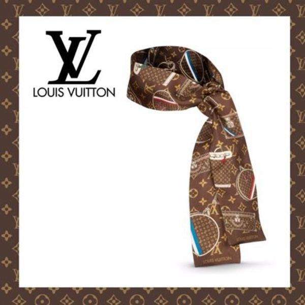 LOUIS VUITTON☆ヴィトン BANDEAU MONOGRAM TRUNKS スカーフ