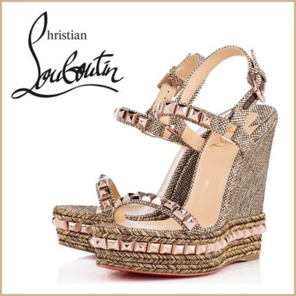 【Christian Louboutin】 Cataclou Grana Tweed サンダル
