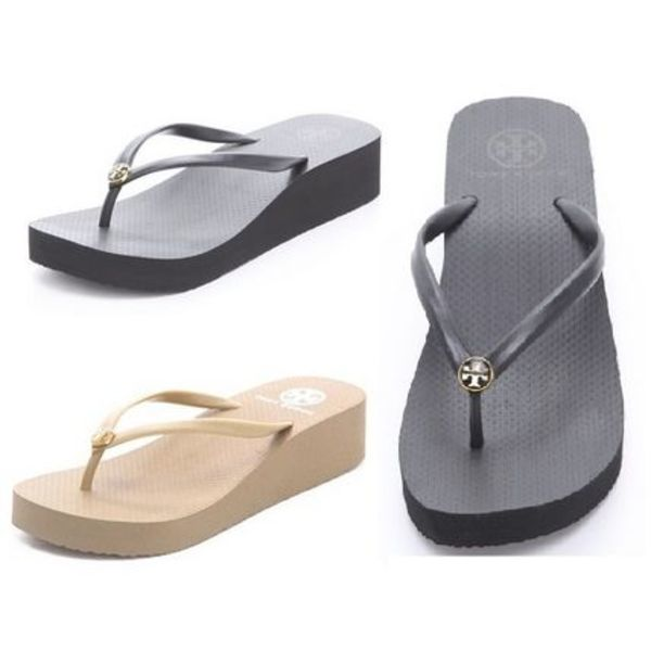 【お早めに☆SALE】ウェッジTory Burch Wedge Thin Flip Flop