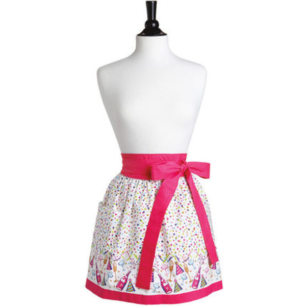 Bubbly Celebration Border Front Tie Caroline Half Apron