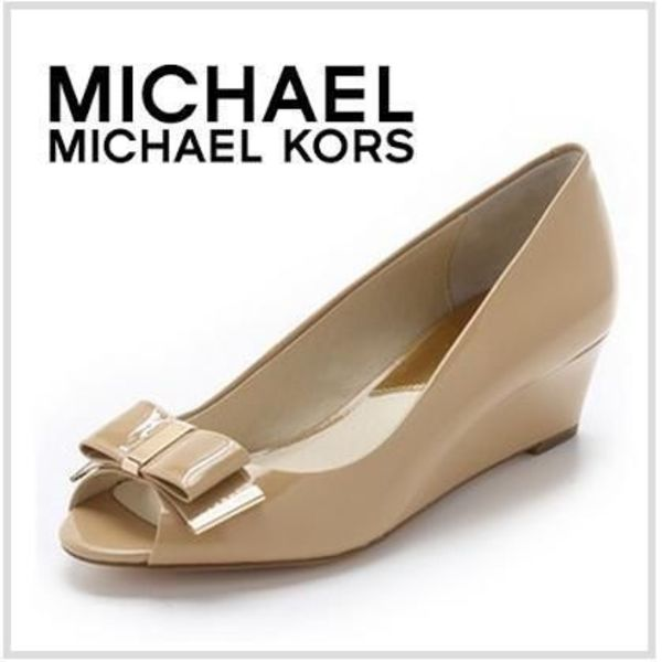 【Michael Kors】Kiera Open Toe Wedgesウェッジオープントゥー
