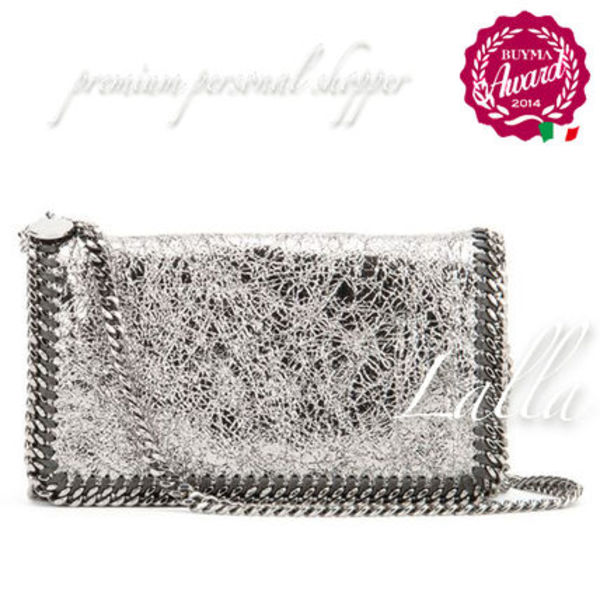 ☆Stella McCartney【291622 W9647】CLUTCH METALLIC CRACKLE