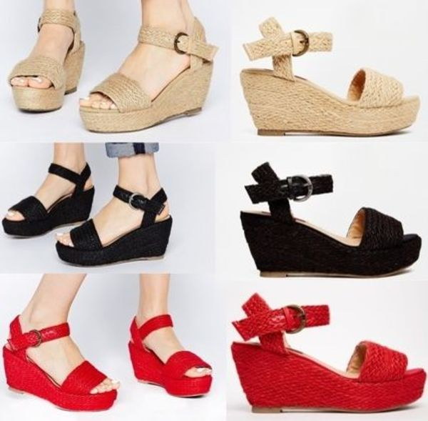 ASOS/London Rebel Wedge Sandals