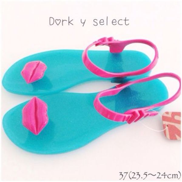 pink lip(blue base) 37(23.5~24cm)